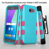 For Samsung Galaxy J3/Emerge/Sol 2 Teal Green/Electric Pink TUFF Hybrid Cover