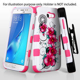 For Samsung Galaxy J7/Halo Morning Petunias/Electric Pink TUFF Hybrid Case Cover