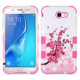 For Samsung Galaxy J7/Halo Spring Flowers/Electric Pink TUFF Hybrid Phone Cover