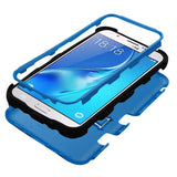 For Samsung Galaxy J7/Halo Dark Blue/Black TUFF Hybrid Protector Cover w/Stand