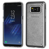 For Samsung Galaxy S8 Transparent Clear Sheer Glitter Premium Candy Skin Cover