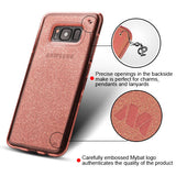 For Samsung Galaxy S8 Transparent Rose Gold Sheer Glitter Candy Skin Case Cover