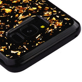 For Samsung Galaxy S8 Gold Flakes Krystal Gel Series Silicone Candy Skin Cover