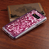 For Samsung Galaxy S8 Silver Flakes/Pink Krystal Gel Series Candy Skin Cover