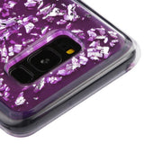 For Samsung Galaxy S8 Silver Flakes/Purple Krystal Gel Series Candy Skin Cover