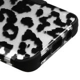 For Samsung Galaxy S8 Black Leopard/Black TUFF Hybrid Phone Protector Case Cover