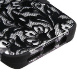 For Samsung Galaxy S8 Black Lace Flowers/Black TUFF Hybrid Phone Protector Cover