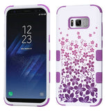 For Samsung Galaxy S8 Rising Hibiscus/Electric Purple TUFF Hybrid Protector Case