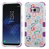 For Samsung Galaxy S8 Battle Of Balls/Electric Purple TUFF Hybrid Phone Cover