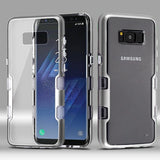 For Samsung Galaxy S8 Metallic Silver/Clear TUFF Panoview Hybrid Protector Case