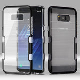 For Samsung Galaxy S8 Metallic Black/Clear TUFF Brushed Panoview Hybrid Cover