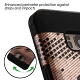 For Samsung Galaxy S8 Black Lace Flowers (2D Rose Gold)/Black TUFF Trooper Cover