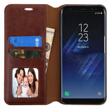 For Samsung Galaxy S8 Brown MyJacket Leather Flip Wallet Protector Case Cover
