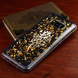 For Samsung Galaxy S8 Plus Gold Rose Glitter Krystal Gel Series Candy Skin Cover