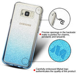 For Samsung Galaxy S8 Plus Blue Gradient Sheer Glitter Premium Candy Skin Cover