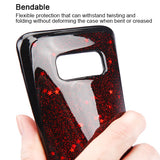 For Samsung Galaxy S8 Plus Red Starry Sky Krystal Gel Series Candy Skin Cover
