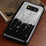 For Samsung Galaxy S8 Plus Silver Glitter/Silver Stars Gel Candy Skin Case Cover