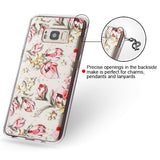 For Samsung Galaxy S8 Plus Painted Flowers Glassy SPOTS Premium Candy Skin Cover