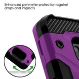 For Samsung Galaxy S8 Plus Purple/Black Storm Tank Hybrid Protector Case w/Stand