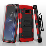 For Samsung Galaxy S8 Plus Black/Red 3-in-1 Storm Tank Protector Cover Combo