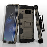 For Samsung Galaxy S8 Plus Dark Grey/Black 3-in-1 Storm Tank Hybrid Cover Combo