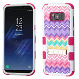 For Samsung Galaxy S8 Plus Camo Wave/Hot Pink TUFF Hybrid Protector Case w/Stand