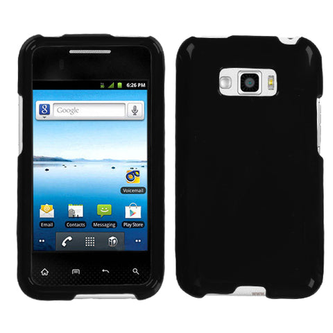 Two Piece Hard Slim Snap on Cover Case Smooth Protector for LG Optimus Elite