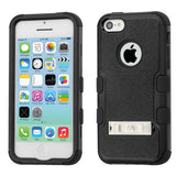 For iPhone 5c Natural TUFF Hybrid Impact Armor Phone Protector Cover with Stand