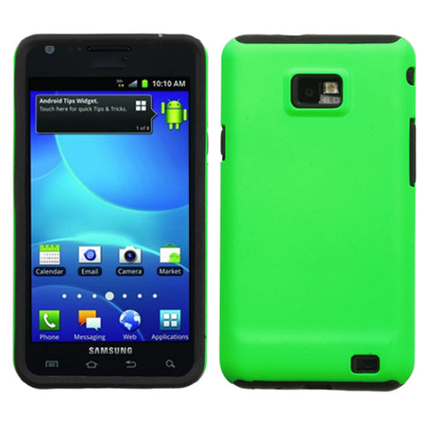 For I777 Galaxy S II Apple Green Fusion Hybrid Phone Protector Cover Case