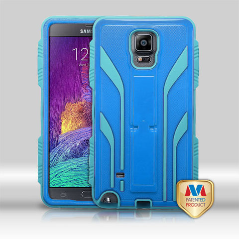 For Galaxy Note 4 Natural Dark Blue/Tropical Teal TUFF Extreme Hybrid Case Cover