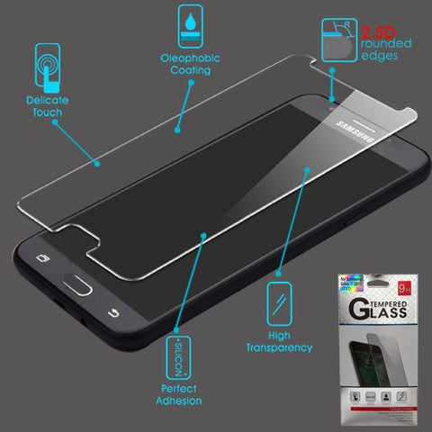 For Samsung Galaxy J7 Star/V/Refine Tempered Glass Screen Protector Cover 2.5D