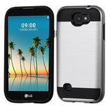 For LG K3  Brushed Hybrid Shockproof Impact Armor Phone Protector Case Cover