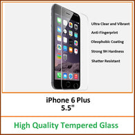 Clear Tempered Glass Screen Protector Cover 9H Hardness for iPhone 6 Plus 5.5""