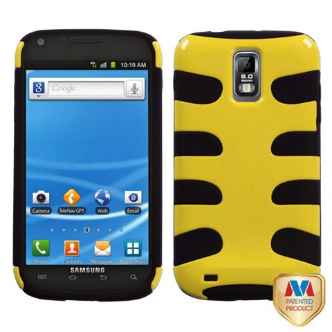For T989 Galaxy S II Natural Yellow Fishbone Phone Protector Cover
