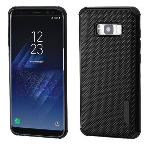 For Samsung Galaxy S8 Plus Mat Weave Stylish Impact Hybrid Protector Case Cover