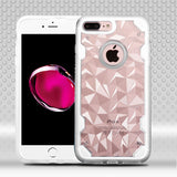 For iPhone 7 / 8 Plus Clear/Clear Chali-Polygon Hybrid Impact Armor Case Cover