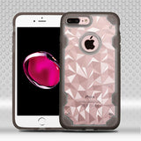 For iPhone 7 / 8 Plus Clear/Smoke Chali-Polygon Armor Protector Case Cover