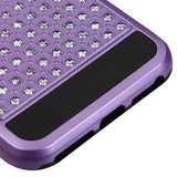For iPhone 7 / 8 Purple/Black Diamante FullStar Shockproof Protector Case Cover