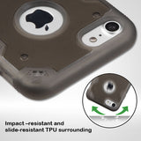 For iPhone 7 / 8  Smoke/Smoke Chali-FreeStyle Armor Hybrid Protector Case Cover