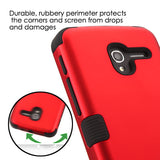 For Alcatel Tru / Stellar Titanium Red/Black TUFF Hybrid Phone Protector Cover