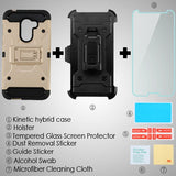 For Alcatel Walters A30 Plus Gray/Black TUFF Hybrid Phone Protector Case Holster