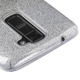 For LG Treasure LTE/Escape 3/K8/Tribute 5/K7 Black Gradient Glitter Hybrid Cover