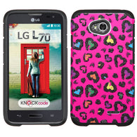 Colorful Glittering Leopard Skin Hot Pink/Black