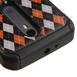 For Motorola Moto G (3rd Gen)Classic Argyle/Black Astronoot Phone Protector Case