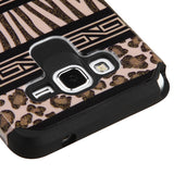 For G530 Galaxy Grand Prime Zebra Skin-Leopard Skin/Black Armor Case Cover