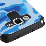 For Samsung Grand Prime Plus/Grand Prime Navy Blue/Black Armor Protector Cover