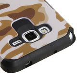 For Samsung Grand Prime Plus/Grand Prime CamoBrown/Black Armor Protector Cover