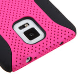 For Galaxy Note 4 Hot Pink/Black Astronoot Phone Protector Cover