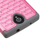 For ZTE Zmax 2 Pearl Pink/Gray FullStar Shockproof Phone Protector Case Cover