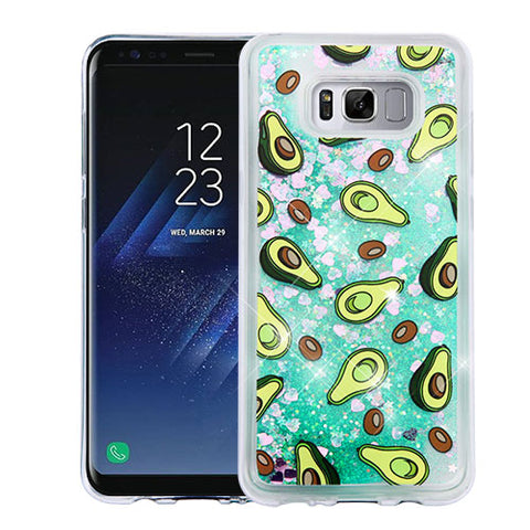 For Samsung Galaxy S8 Plus Quicksand Glitter Silicone Hybrid Protector Cover
